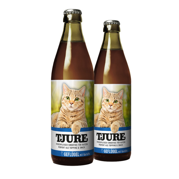 "TJURE Katze ""Geflügel"" Doppelpack 2 x 220 ml"