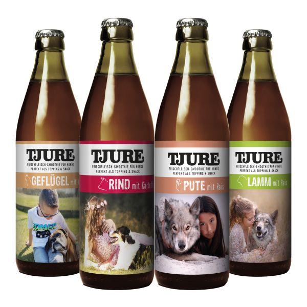 All in One TJURE Hund 4 x 320 ml - Alle 4 leckeren Sorten im Vorteilspaket