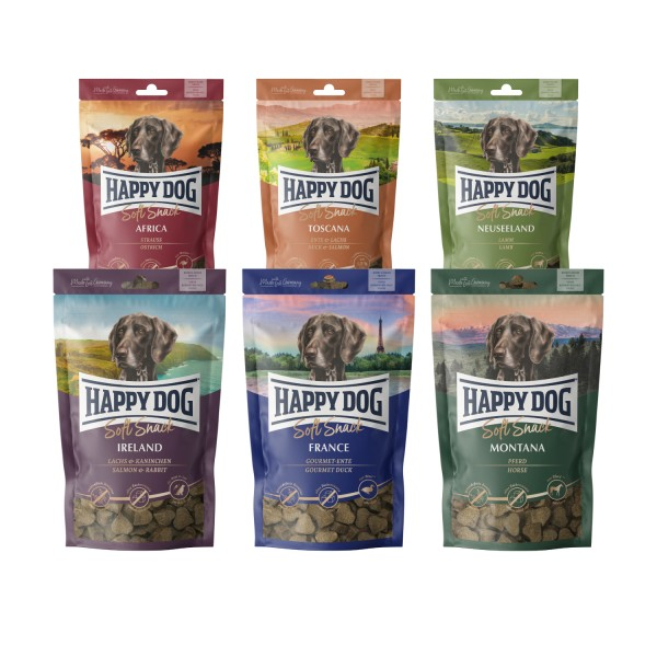 Happy Dog Soft Snacks Sortiment