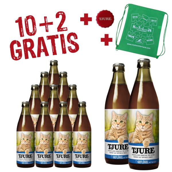 "TJURE Katze ""Geflügel"" Aktion 10+2 GRATIS"