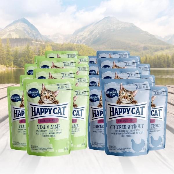 Happy Cat Variation Nassfutter für sterilisierte Katzen 24 x 85g