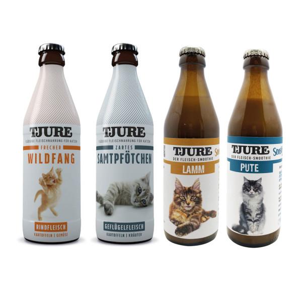 """Tjure """"All in One"""" 4 x 320 ml Probierpaket für Katzen"""