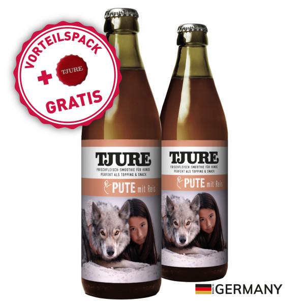 "TJURE Hund ""Pute & Reis"" Doppelpack 2 x 320 ml"