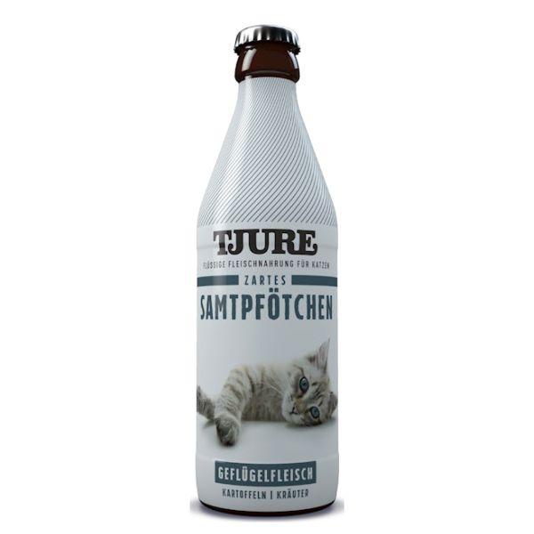 """TJURE Flüssigfleischnahrung """"Zartes Samtpfötchen"""""""