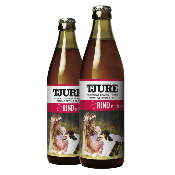 "TJURE Hund ""Rind"" Doppelpack 2 x 320 ml"