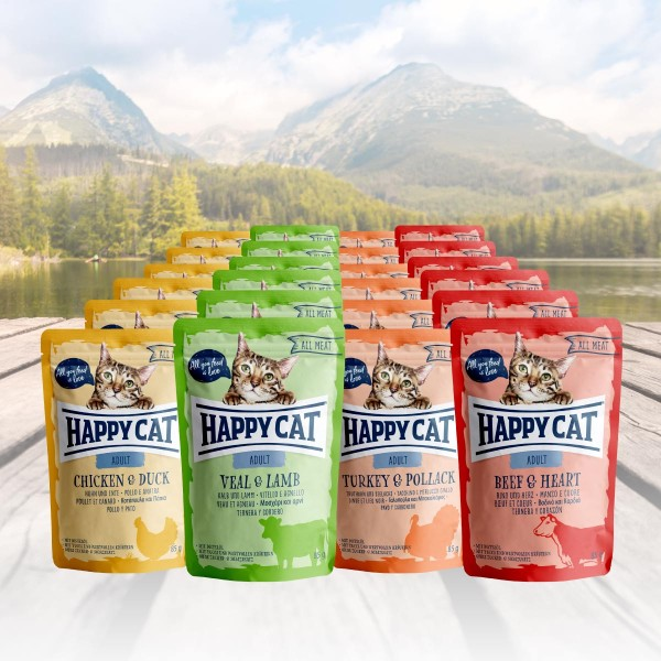 Happy Cat Variation Nassfutter - All Meat 24 x 85 g
