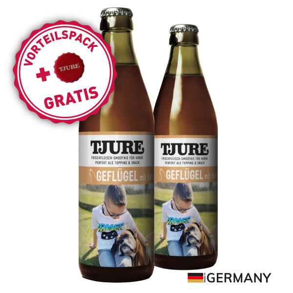 "TJURE Hund ""Geflügel"" Doppelpack 2 x 320 ml"